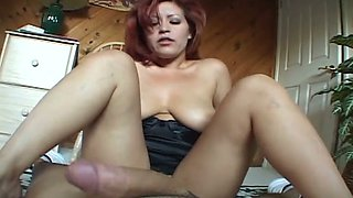 Busty Mexican wife rides king size dong face to face