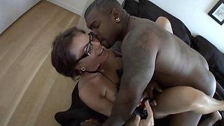 Dana Dearmond gets a brutal face fuck