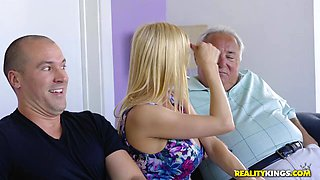 milf takes care of a cock that's too hard
