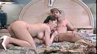 Rapacious Asian babe rides her brutal lover's cock on top
