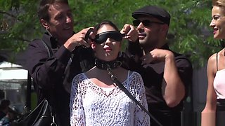 Teen Slave Blindfolded And Gagged In Public