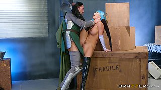 Cosplay with Abigail Mac makes his cock so hard and ready to erupt