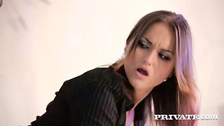 gorgeous secretary barbara bieber showed some love to her boss