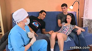 Doctor watches hymen physical and virgin kitten banging