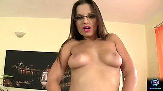 Big titted Eve Angel having fun at the office