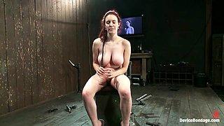 Iona Grace in Back Bend Boob Punishment - DeviceBondage