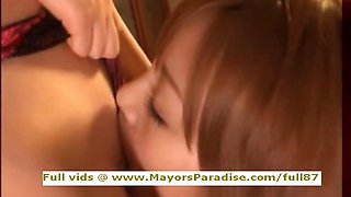 Rio and Kirara innocent Chinese chicks fondle each others