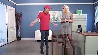 Office milf Nina Elle loves anal