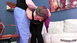 Brutal dad companion's daughter xxx Ass-Slave Yoga