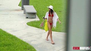 Charity Crawford In Celeb Look-Alike in Thong Bikini