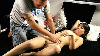 Shy virgin being fucked for the first time