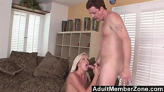 AdultMemberZone - Blonde Model can't resist to a hot cock