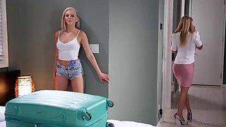 Slutty young schoolgirl Tiffany Watson seduces her teacher with big breasts