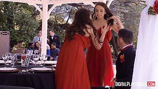 Adria Rae and Ashley Anderson are bride mates craving a big cock