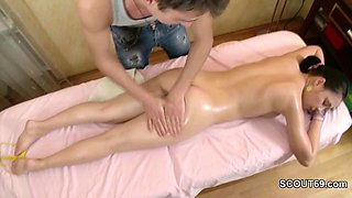Brother Seduce Step-Sister to Fuck with Hot Massage