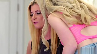 Chloe asks her gfs help to seduce and taste her stepmoms pussy