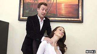 WANKZ- Huge Titty Cougar Boss McKenzie Lee Cums