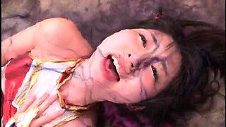 Pretty Asian girl in uniform gets her peach drilled deep
