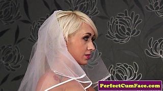 Bigtit British bride takes huge facial