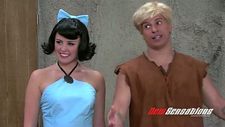 Kinky porn parody video to the Flintstones cartoon movie