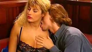 Hot and insatiable blonde European babe seduced for sex
