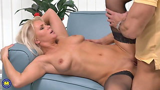 Taboo sex with beautiful mature moms and sons