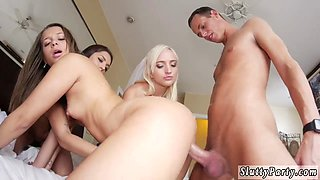 Young girl creampie group and party girls fuck strippers Bridesmaids