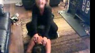 Mature wife and her girlfriend got drunk and humped on the floor
