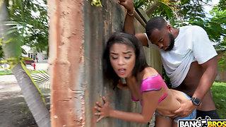 BANGBROS -  Maya Bijou Gets Fucked in Public