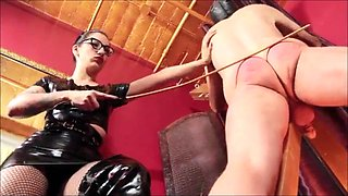 Latex Mistress Spank Slave