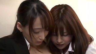 Japanese lesbian schoolgirl stalks and seduces teacher