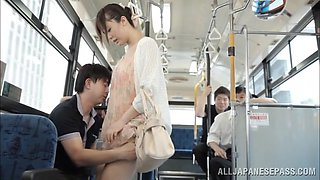 Divine Asian Dame Getting Worked On Hardcore In Public Bus