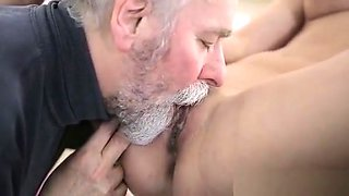 Horny Young Beauty Loves Hardcore Insertion Of Old Hard Cock