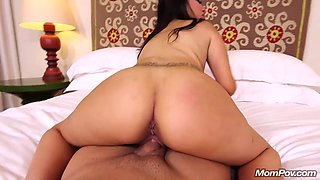 Thick Busty Tattooed Latina Milf gets POV Facial