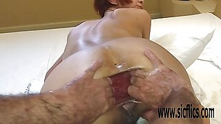 Hard Double anal fisting Marias greedy hole