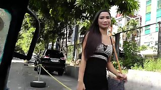 PETITE FILIPINA gets fucked with her STOCKINGS ON