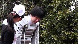 Curvy ass asian nurse severe encounter with a huge shlong