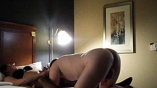 Chunky mature wife in stockings gets nailed by her lover