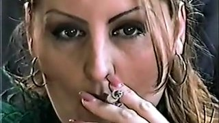 Crazy homemade Smoking, Solo Girl porn scene