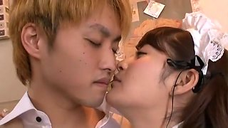 Incredible Japanese chick Megu Fujiura in Crazy Handjob, Couple JAV scene