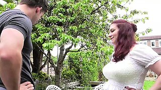 British housewife fucking in the garden