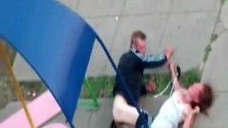 Drunk couple in public