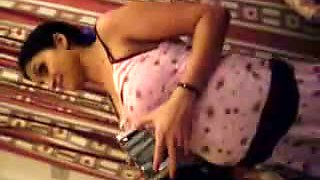 Indian Aunty doing blowjob to her Partner