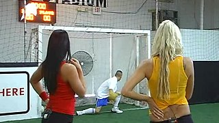 Soccer Game Ends Up In A Massive Orgy With Gorgeous Babes