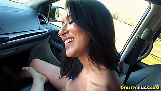 Elle Monela is a dolled up brunette who wants to be fucked in a car