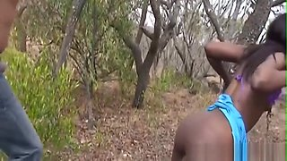 Abused African Slave Gets Roughly Banged Outdoors