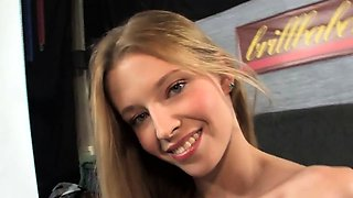 Hot teen Angel gets a pearly cum river on her sweet face