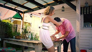 Amazing hottie banged by step son