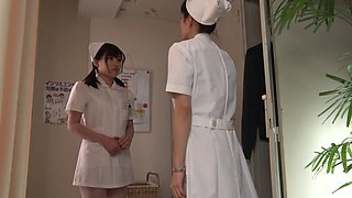 Old guy fucks a cute Japanese nurse in the hospital