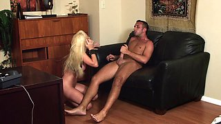 Hot blowjob scene with a naughty porn hottie Jesse Jane in nasty fuck action